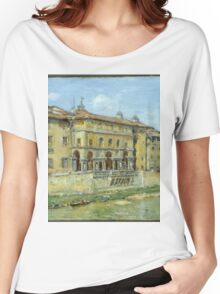 William Merritt Chase - Florence 1907. Urban landscape: city view, streets, building, house, Florence, cityscape, architecture, construction, travel , panorama, buildings Women's Relaxed Fit T-Shirt