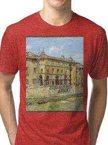William Merritt Chase - Florence 1907. Urban landscape: city view, streets, building, house, Florence, cityscape, architecture, construction, travel , panorama, buildings Tri-blend T-Shirt