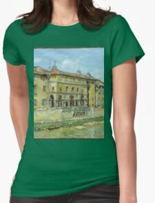 William Merritt Chase - Florence 1907. Urban landscape: city view, streets, building, house, Florence, cityscape, architecture, construction, travel , panorama, buildings Womens Fitted T-Shirt