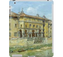 William Merritt Chase - Florence 1907. Urban landscape: city view, streets, building, house, Florence, cityscape, architecture, construction, travel , panorama, buildings iPad Case/Skin