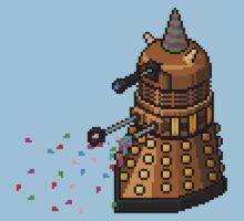 Birthday Dalek - Pixel Art One Piece - Short Sleeve