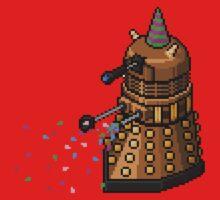 Birthday Dalek - Pixel Art Kids Tee