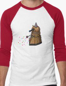 Birthday Dalek - Pixel Art Men's Baseball ¾ T-Shirt