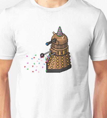 Birthday Dalek - Pixel Art Unisex T-Shirt