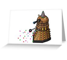 Birthday Dalek - Pixel Art Greeting Card