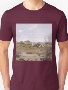 William Merritt Chase - Gathering Wild Flowers 1895. Field landscape: field landscape, nature, Wild, garden, flowers, Gathering , sun, rustic, Wild Flowers, sky, summer Unisex T-Shirt