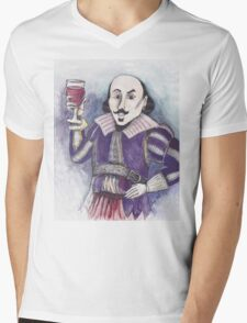 Wining Shakespeare Mens V-Neck T-Shirt