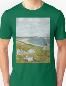 William Merritt Chase - Idle Hours. Picnic painting: picnic time, woman, holiday, people, family, travel, garden, relaxation, rest, game, picnic Unisex T-Shirt