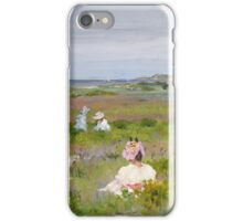 William Merritt Chase - Landscape Shinnecock, Long Island. Picnic painting: picnic time, woman, holiday, people, family, travel, garden, relaxation, rest, game, picnic iPhone Case/Skin
