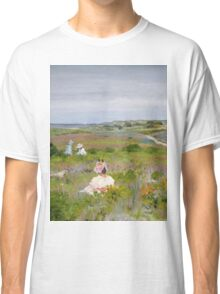 William Merritt Chase - Landscape Shinnecock, Long Island. Picnic painting: picnic time, woman, holiday, people, family, travel, garden, relaxation, rest, game, picnic Classic T-Shirt
