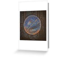 man hole cover Greeting Card