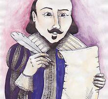 Shakespeare writing by SkyeWieland