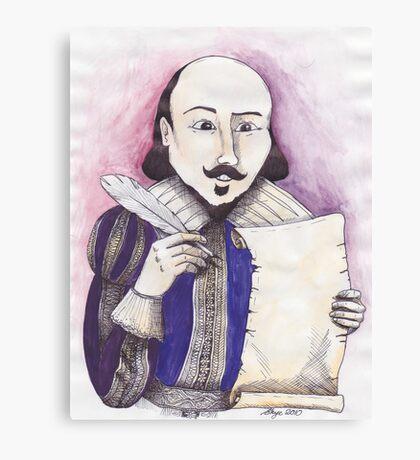 Shakespeare writing Canvas Print