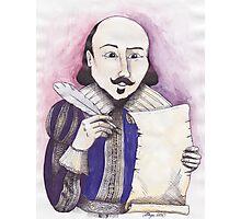 Shakespeare writing Photographic Print