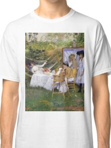 William Merritt Chase - Open Air Breakfast 1888. Country landscape: village, rustic, aristocrats, Open Air, Breakfast, contented, garden, relaxation, life, rest, hammock  Classic T-Shirt