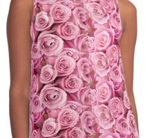 Pink Roses Contrast Tank