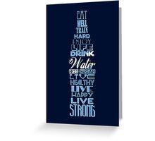 Live Strong - aqua Greeting Card