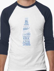 Live Strong - aqua Men's Baseball ¾ T-Shirt
