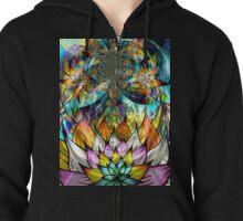 Flower Fractal Life Zipped Hoodie
