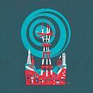 Sutro Tower Screenprint by Michael Wertz