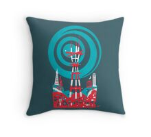 Sutro Tower Screenprint Throw Pillow