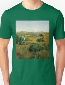 William Merritt Chase - Summer At Shinnecock Hills. Country landscape: Summer , country, travel, garden, rustic, relaxation, rest, game, trees, sun, flowers Unisex T-Shirt