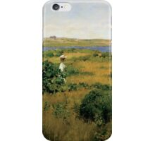 William Merritt Chase - Summer At Shinnecock Hills. Country landscape: Summer , country, travel, garden, rustic, relaxation, rest, game, trees, sun, flowers iPhone Case/Skin