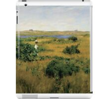 William Merritt Chase - Summer At Shinnecock Hills. Country landscape: Summer , country, travel, garden, rustic, relaxation, rest, game, trees, sun, flowers iPad Case/Skin
