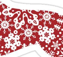 Golden Retriever Christmas Snowflakes Sticker