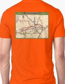 TUBE, UNDERGROUND, MAP, 1908, London, Historic, UK, GB Unisex T-Shirt