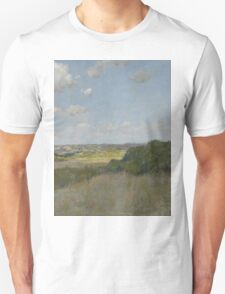 William Merritt Chase - Sunlight And Shadow, Shinnecock Hills. Field landscape: field landscape, nature, village, garden, flowers, trees, sun, rustic, countryside, sky and clouds, summer Unisex T-Shirt