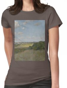 William Merritt Chase - Sunlight And Shadow, Shinnecock Hills. Field landscape: field landscape, nature, village, garden, flowers, trees, sun, rustic, countryside, sky and clouds, summer Womens Fitted T-Shirt