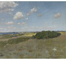William Merritt Chase - Sunlight And Shadow, Shinnecock Hills. Field landscape: field landscape, nature, village, garden, flowers, trees, sun, rustic, countryside, sky and clouds, summer Photographic Print