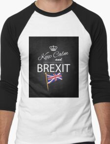 Keep calm and Brexit Men's Baseball ¾ T-Shirt