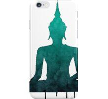 Turquoise Zen Watercolor Design iPhone Case/Skin
