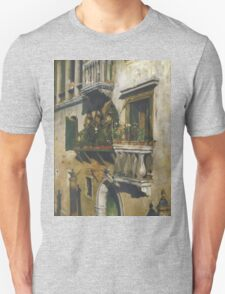 William Merritt Chase - Venice 1877. House landscape: city view, streets, building, balcony, window, cityscape, architecture, construction, travel , panorama, buildings Unisex T-Shirt
