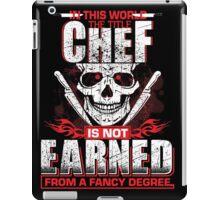 The title chef iPad Case/Skin