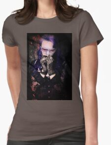 Scared Vamp Womens Fitted T-Shirt