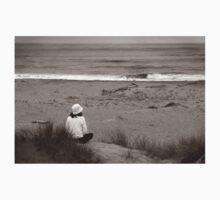 Watching The Ocean (bw) One Piece - Long Sleeve
