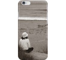 Watching The Ocean (bw) iPhone Case/Skin