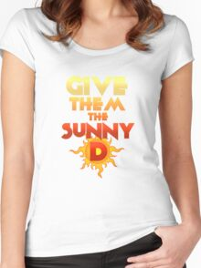 Give Them The Sunny D Women's Fitted Scoop T-Shirt