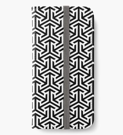 Black and White Geometric Pattern iPhone Wallet/Case/Skin