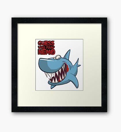 Guess who found Nemo Framed Print