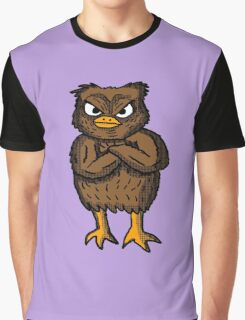 Pissed Off Owl Graphic T-Shirt