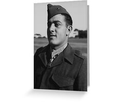 John Basilone wearing The Medal of Honor Greeting Card