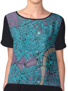 London city map twilight Chiffon Top