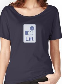 Lift  (vertical logo) Women's Relaxed Fit T-Shirt