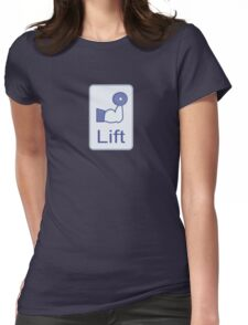 Lift  (vertical logo) Womens Fitted T-Shirt