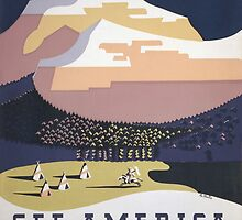 Welcome to Montana - See America WPA by warishellstore