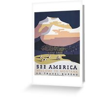 Welcome to Montana - See America WPA Greeting Card